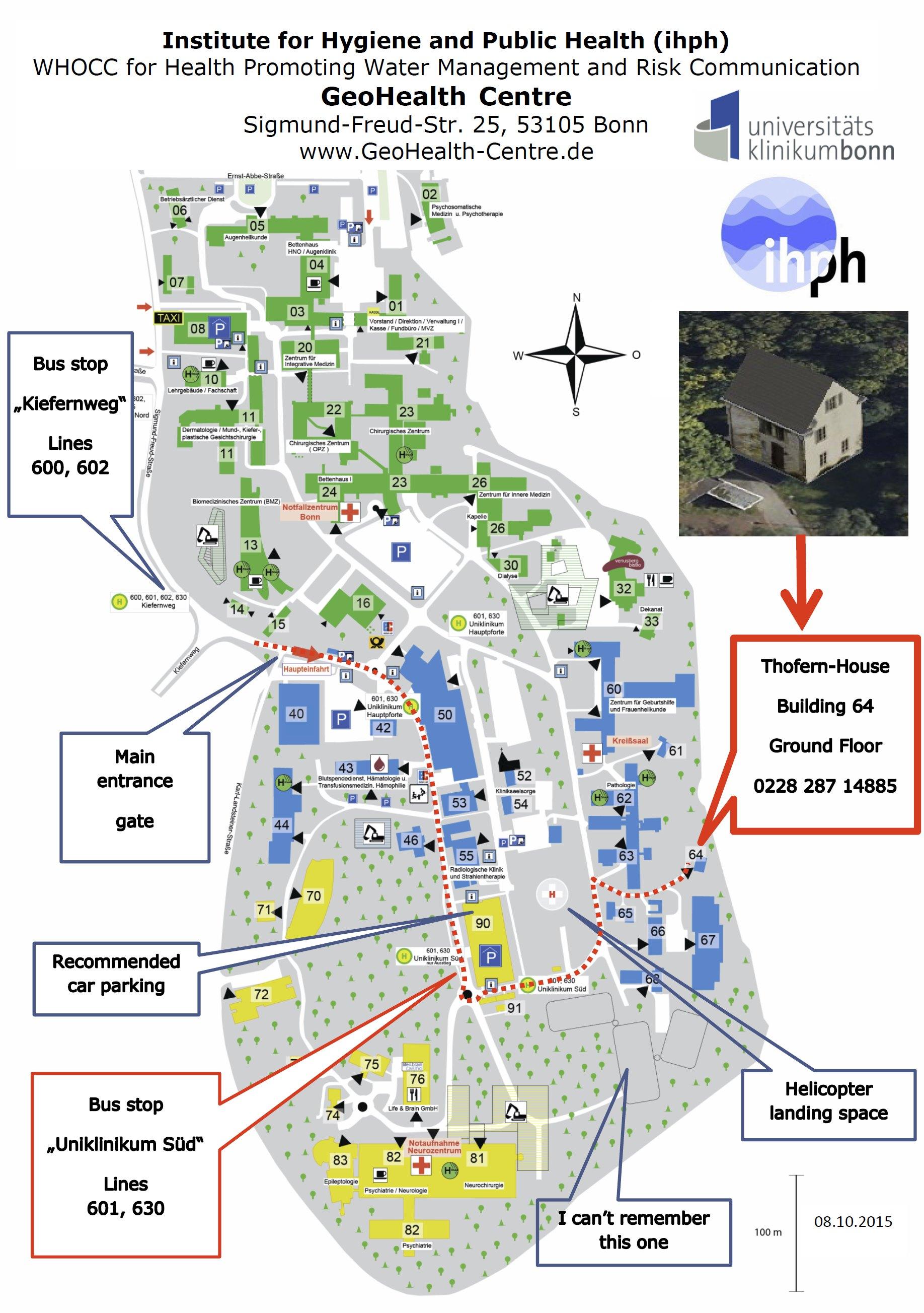 GeoHealthCentre Lageplan